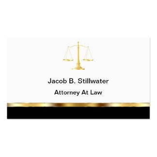 Tarjetas de visita del abogado