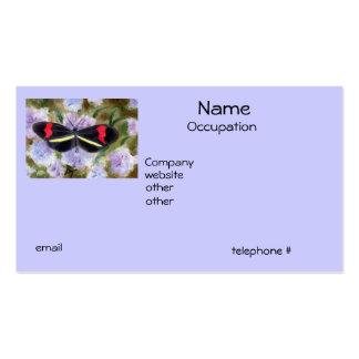 Tarjetas de visita del aceo de la mariposa