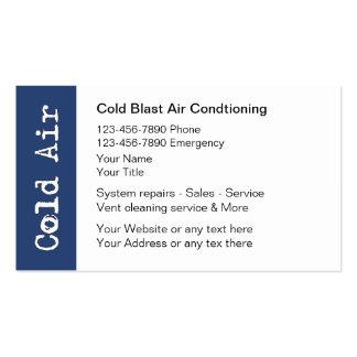 Tarjetas de visita del aire acondicionado