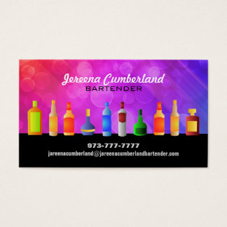 Tarjetas de visita del alcohol