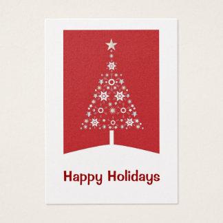 Tarjetas de visita del árbol de navidad