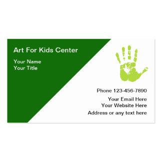 Tarjetas de visita del arte de los niños