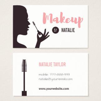 Tarjetas de visita del artista de maquillaje de la