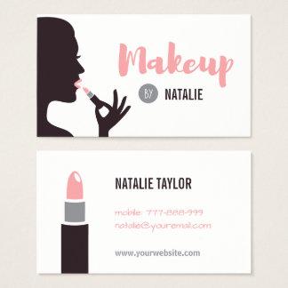 Tarjetas de visita del artista de maquillaje del