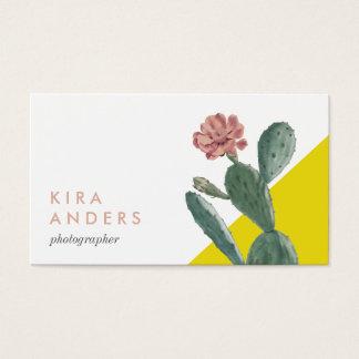 Tarjetas de visita del bloque del color del cactus
