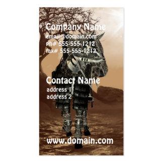 Tarjetas de visita del caballo de guerra