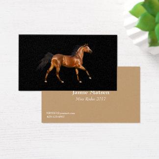 Tarjetas de visita del caballo del rodeo de Srta.