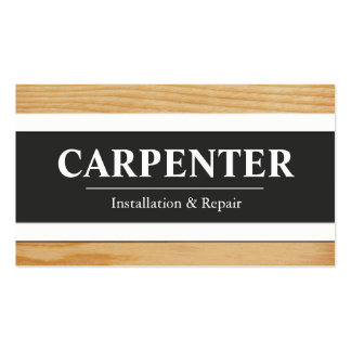 Tarjetas de visita del carpintero