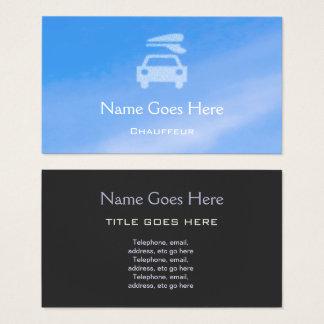 """Tarjetas de visita del chófer del """"cielo azul"""""""
