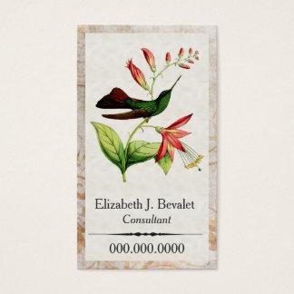 Tarjetas de visita del colibrí de Plumeleteer