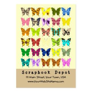 Tarjetas de visita del collage de la mariposa