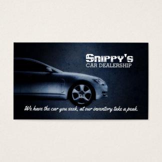 Tarjetas de visita del concesionario de coches