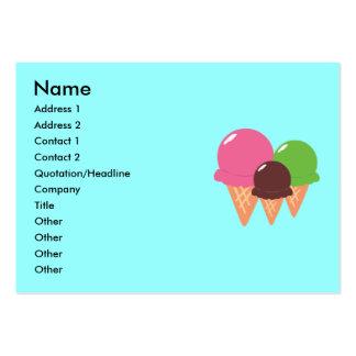 Tarjetas de visita del cono de helado