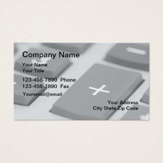 Tarjetas de visita del contable de CPA