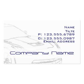 Tarjetas de visita del Corvette