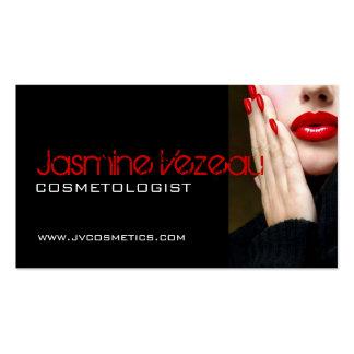 Tarjetas de visita del Cosmetologist