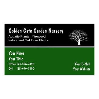 Tarjetas de visita del cuarto de niños del jardín