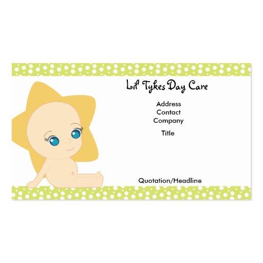 Tarjetas de visita del cuidado de día de los Tykes