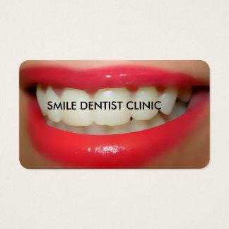 Tarjetas de visita del dentista de la sonrisa
