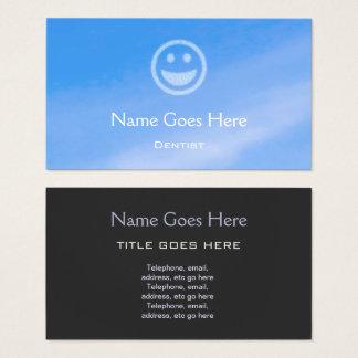 """Tarjetas de visita del dentista del """"cielo azul"""""""