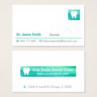 Tarjetas de visita del dentista del logotipo del
