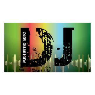 Tarjetas de visita del disc jockey de DJ