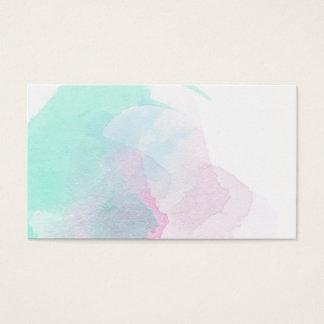 Tarjetas de visita del diseño de la pintura de la