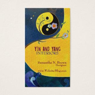 Tarjetas de visita del diseño interior de Yin y de