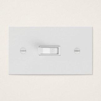 Tarjetas de visita del electricista (interruptor
