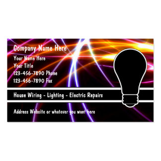 Tarjetas de visita del electricista