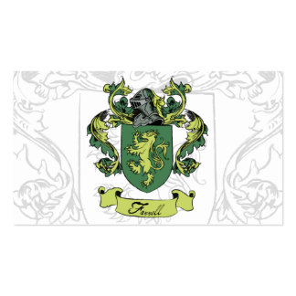 Tarjetas de visita del escudo de la familia de Far