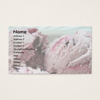 Tarjetas de visita del helado 001