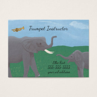Tarjetas de visita del instructor de la trompeta