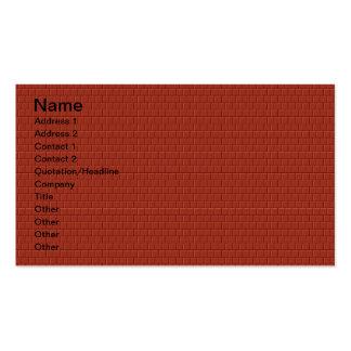 Tarjetas de visita del ladrillo rojo del diseñador
