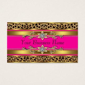 Tarjetas de visita del leopardo de las rosas