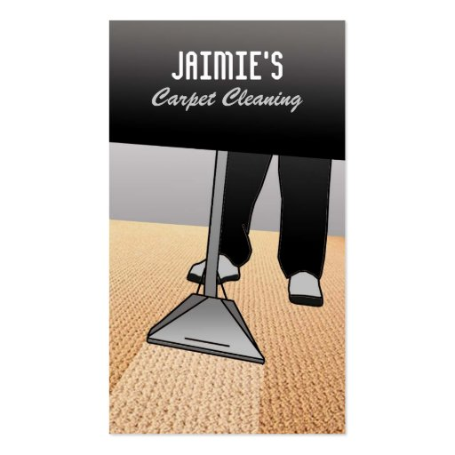 Tarjetas de visita del limpiador de la alfombra