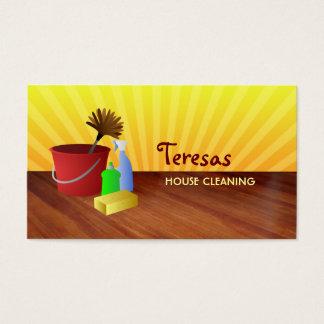 tarjetas de visita del limpiador de la casa