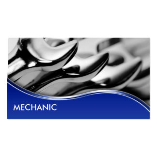 Tarjetas de visita del mecánico