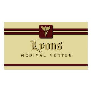 Tarjetas de visita del médico atención sanitaria