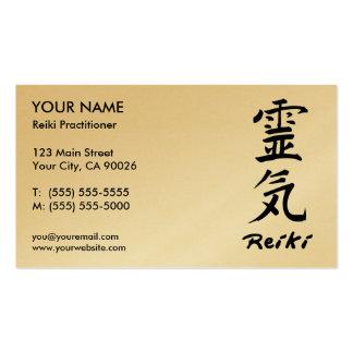 Tarjetas de visita del médico de Reiki