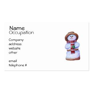 Tarjetas de visita del muñeco de nieve de la