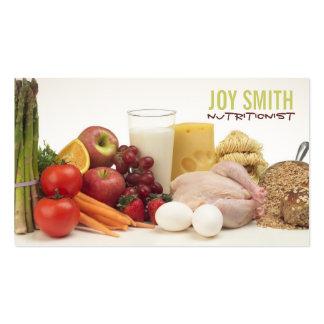 Tarjetas de visita del nutricionista