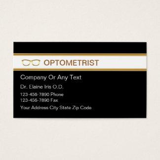 Tarjetas de visita del optometrista