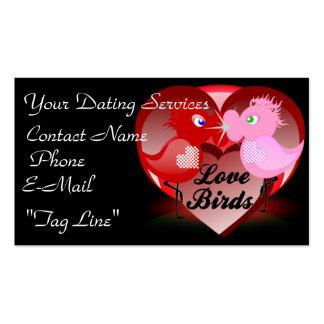Tarjetas de visita del pájaro del amor