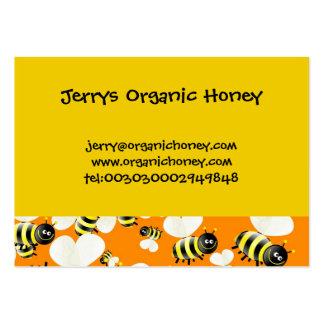 Tarjetas de visita del papel pintado de la abeja