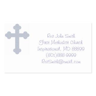 Tarjetas de visita del pastor