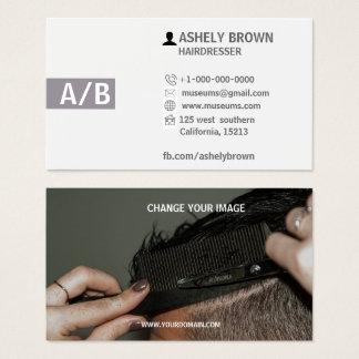 Tarjetas de visita del peluquero, Hairstylist,