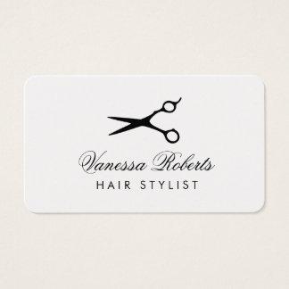 Tarjetas de visita del peluquero para los salones