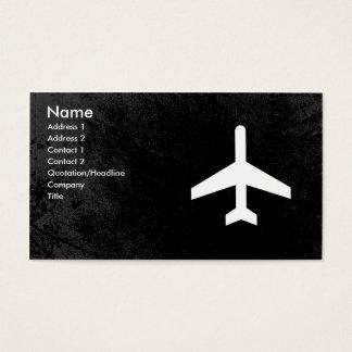 Tarjetas de visita del piloto del aeroplano o del