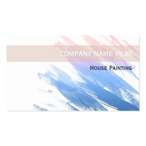 Tarjetas de visita del pintor